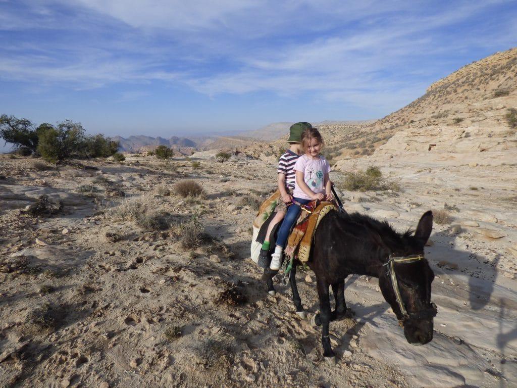 family hiking in Jordan from Experience Jordan