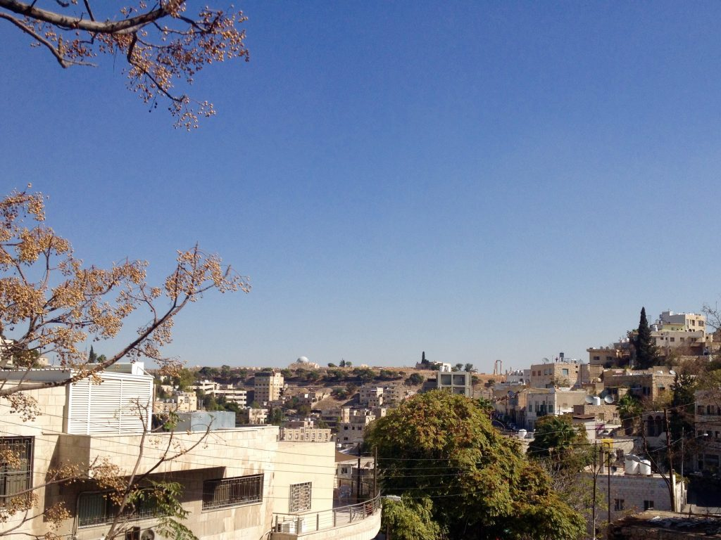 The terrace view: over Amman, out to the Citadel