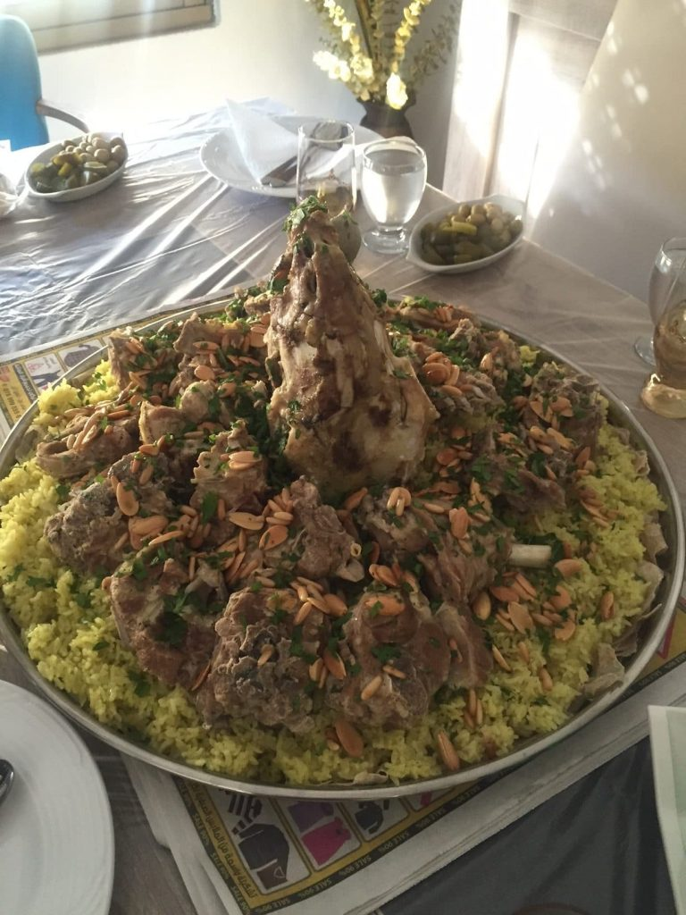 traditionally served mansaf