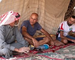 Discussion with a bedouin