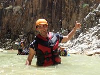 Wadi Mujib swimming