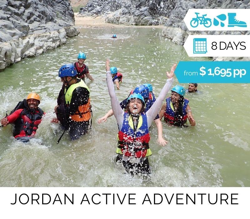 Jordan Active Adventure Group Tour. See Petra & More
